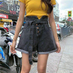 VINTAGE STYLE HIGH WAIST SHORT-Cosmique Studio