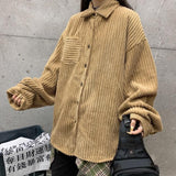 VINTAGE WINTER CORDUROY SHIRT-Cosmique Studio-aesthetic-clothing-store