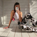VINTAGE Y2K COW PANTS - Cosmique Studio