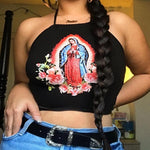 VIRGIN MARY CROP TOP-Cosmique Studio