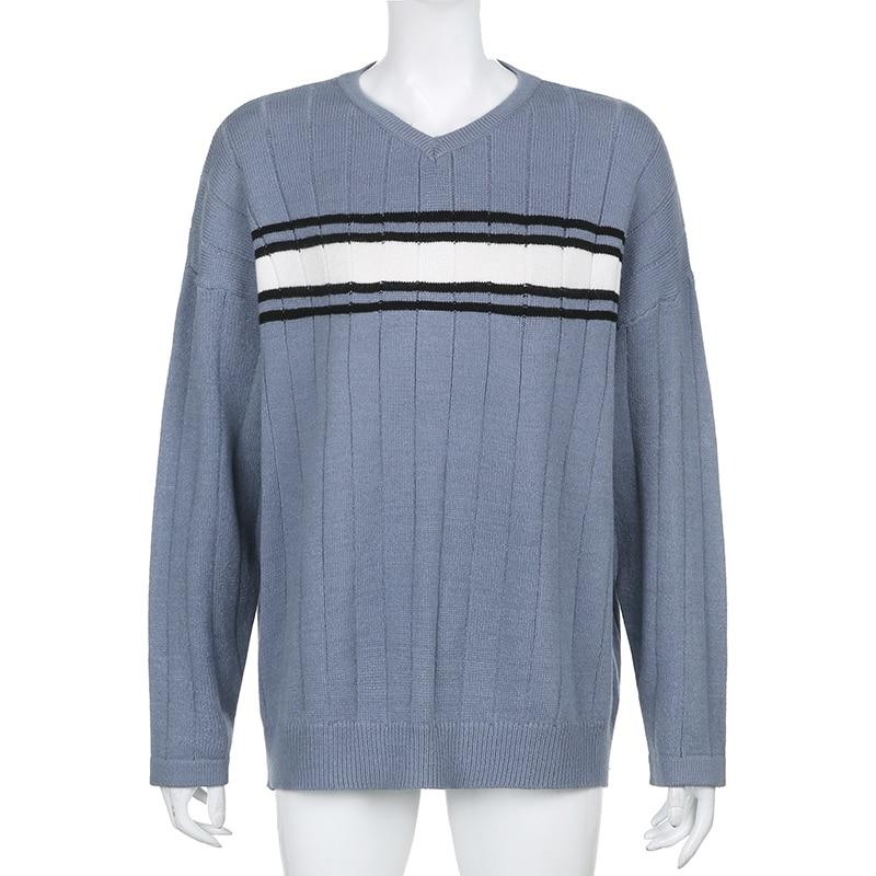 Y2K AESTHETIC VINTAGE CASUAL SWEATER - Cosmique Studio - Aesthetic Outfits