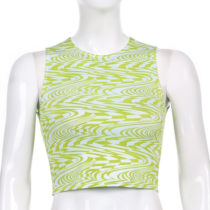 Y2K AESTHETIC WAVE CROP TOP - Cosmique Studio - Aesthetic Clothes