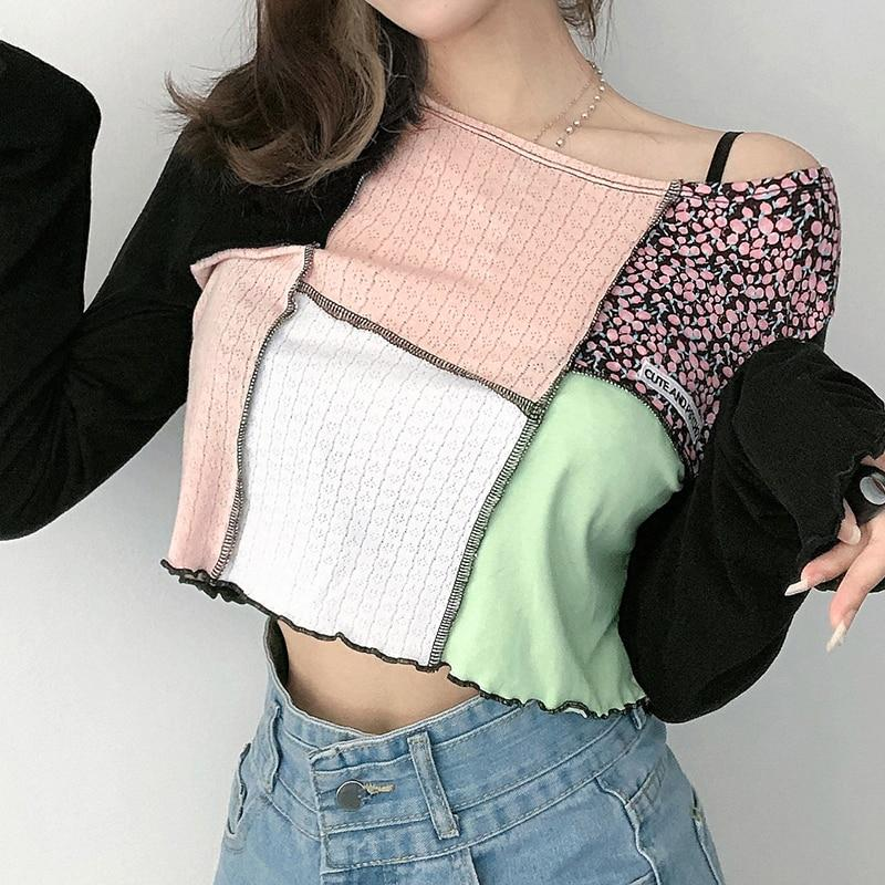 Y2K CUTE AND PSYCHO CROP TOP - Cosmique Studio - Aesthetic Outfits