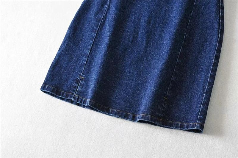 Y2K DENIM MINI SKIRT - Cosmique Studio - Aesthetic Outfits