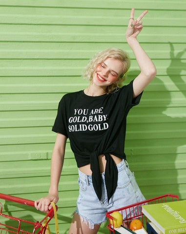 YOU ARE GOLD BABY SOLID GOLD TEE-Cosmique Studio