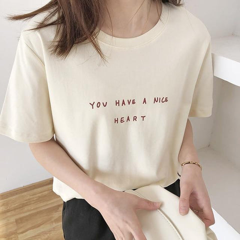 YOU HAVE A NICE HEART TEE-Cosmique Studio - Aesthetic Clothing