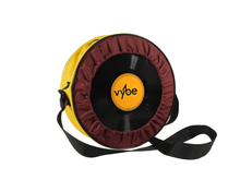 Load image into Gallery viewer, Vybe bag (Burgundy & Yellow)