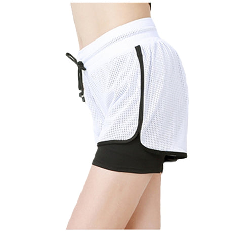 Mesh Fitness Clothes Yoga Shorts Women Athletic Running Cycling