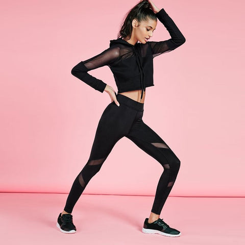 Women Yoga Top + Sports Pants Sport Suit  Yoga Set Running Fitness Training