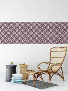 Deep Purple Geometric Pattern - Wallpaper Borded