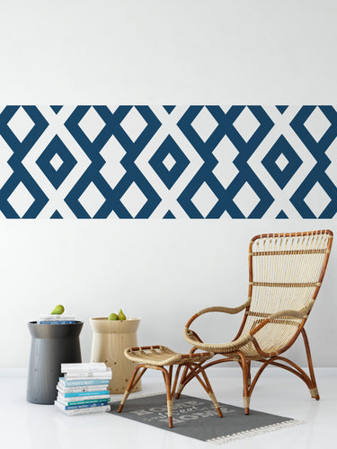 Gold Line Geometric Diamond Pattern - Wallpaper Border
