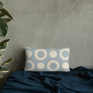 Baby Blue Circle - Standard Cushion  21.00 Cushion, Geometric