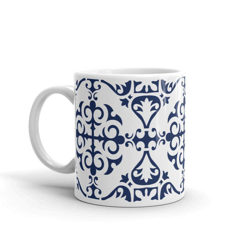 Blue Tile - Ceramic Mug  10.00 Moroccan, mug, office
