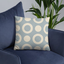 Load image into Gallery viewer, Baby Blue Circle - Standard Cushion  21.00 Cushion, Geometric
