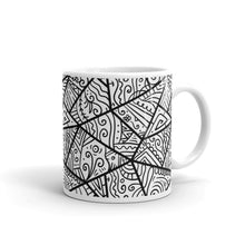 Load image into Gallery viewer, Doodle - Ceramic Mug  10.00 hand drawn, line, mug