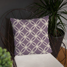 Load image into Gallery viewer, Purple Spirograph - Cushion