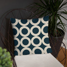 Load image into Gallery viewer, Navy Circle - Cushion
