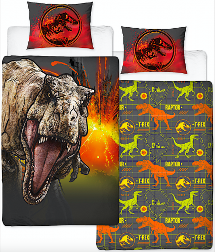Jurassic World Single Duvet Cover Set Uk Noveltycharacter