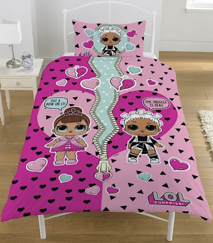 Lol Surprise Reversible Single Duvet Cover Set Noveltycharacter