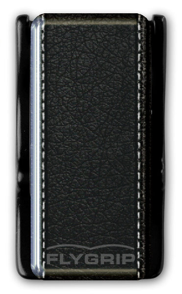 Flygrip Gravity Black Leather w/Stitching w/FREE CASE