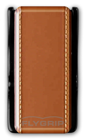 Flygrip Gravity Tan Leather w/Stitching w/FREE CASE