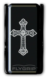 Flygrip Gravity Black and White Cross w/FREE CASE