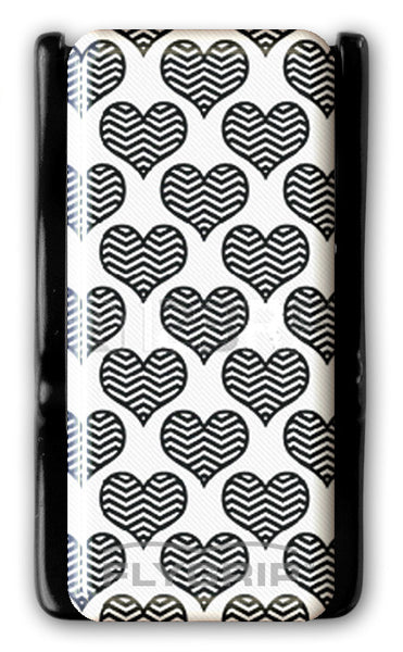 Flygrip Gravity Black and White Heartsw/FREE CASE