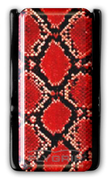 Flygrip Gravity Dark Red Snake Skin w/FREE CASE