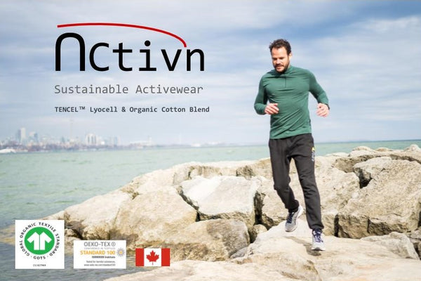 Activn Sustainable Activewear TENCEL™ Lyocell & Organic Cotton Fabric Blend Made in Canada
