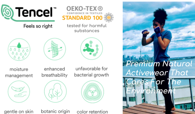 Tencel activewear benifts with okeo tex for women