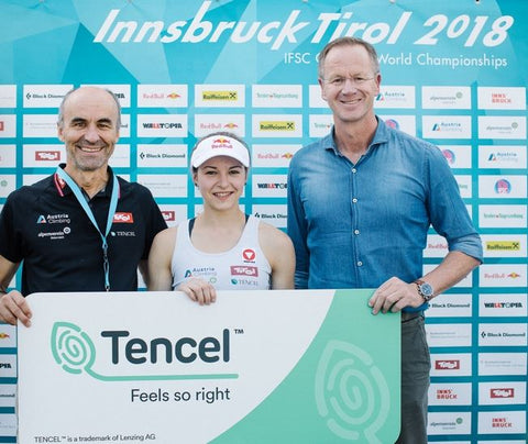 World Champions of the Climbing World Championships in Innsbruck Empowered by TENCEL™