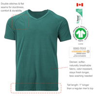 Botanic origin eco-friendly sustainable production fibers tee shirt. Naturally anti-stick and breathable material. Feels cool, dry and gentle on the skin. Sold exclusively on Activn.com