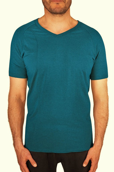 Tencel men's active t-shirt blue teal