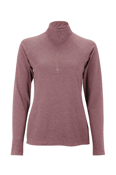 Women's Tencel clothing top long sleeve shirt - dark rose