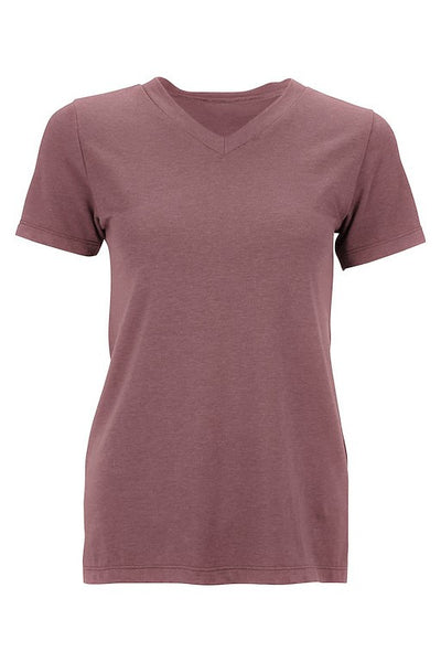 Women's Tencel top t-shirt - dark rose