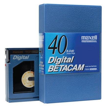 Maxell BD-40 Digital Betacam Video Tape, 40 Minute, Small