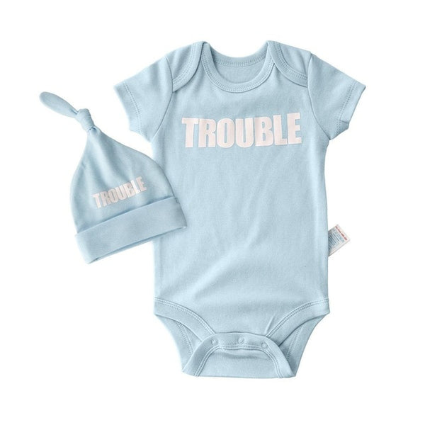Summer High quality newborn clothes twins baby girl summer clothes infant boy clothing short bodysuits + hats roupa de body