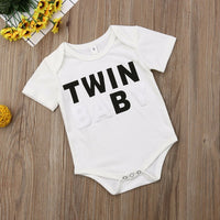 Pudcoco Summer Twin Baby Kids Clothes Newborn Infant Baby Boys Girls Bodysuit Casual Cotton Short Sleeve Twin Jumpsuits Outfits