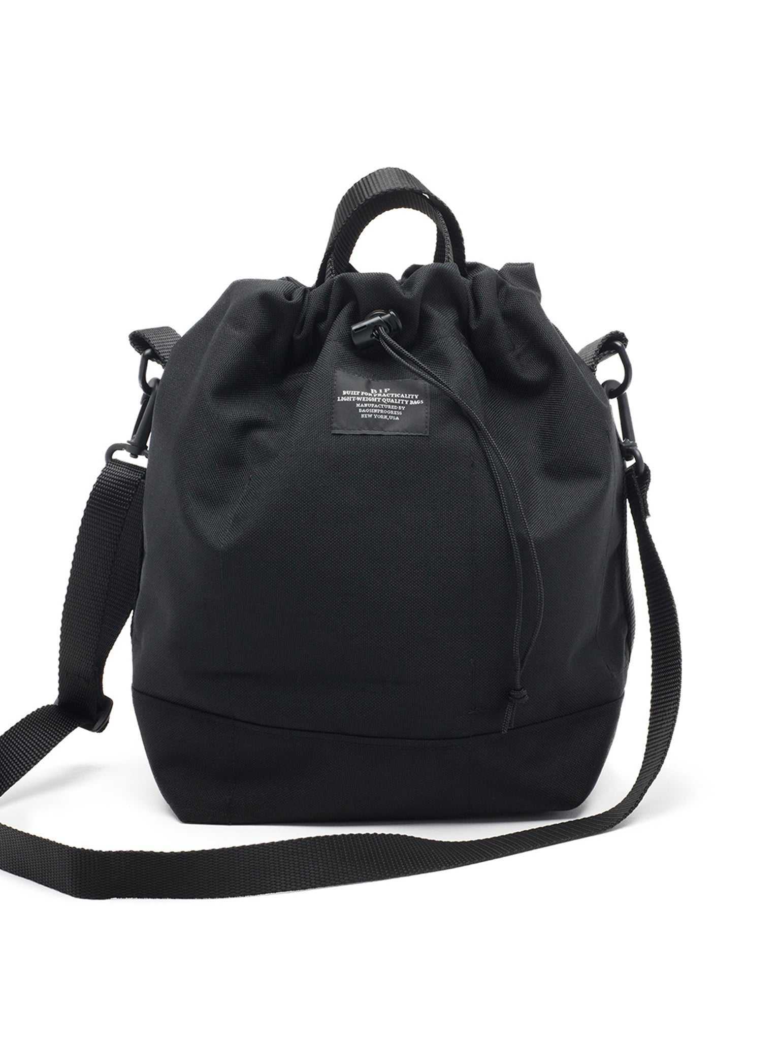 bagsinprogress bucket tote black