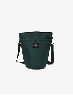 bagsinprogress circle shoulder tote dark green