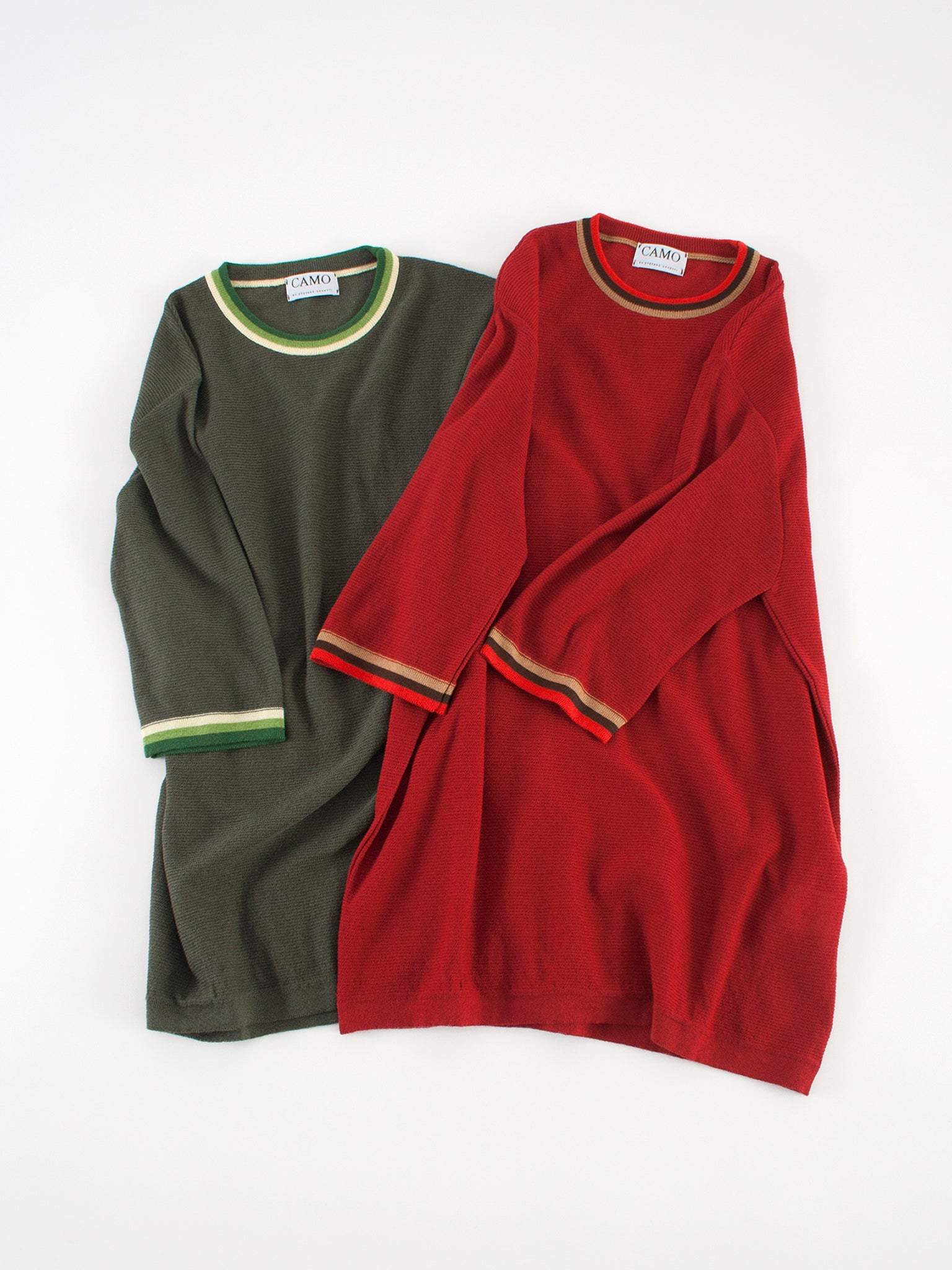 Feystongal Knit T-shirt Green and Red