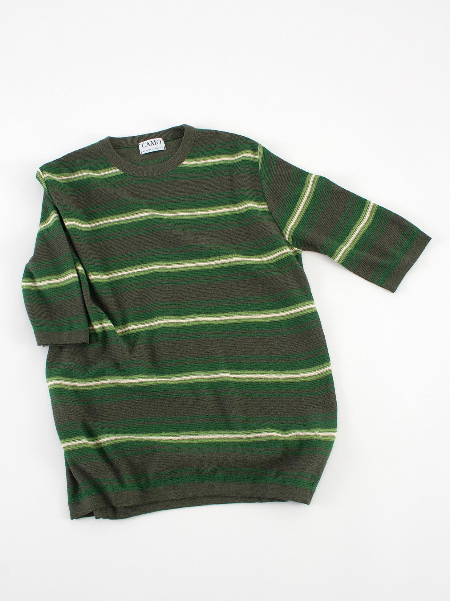 Camo Feystongal Knit T-shirt stripes Green