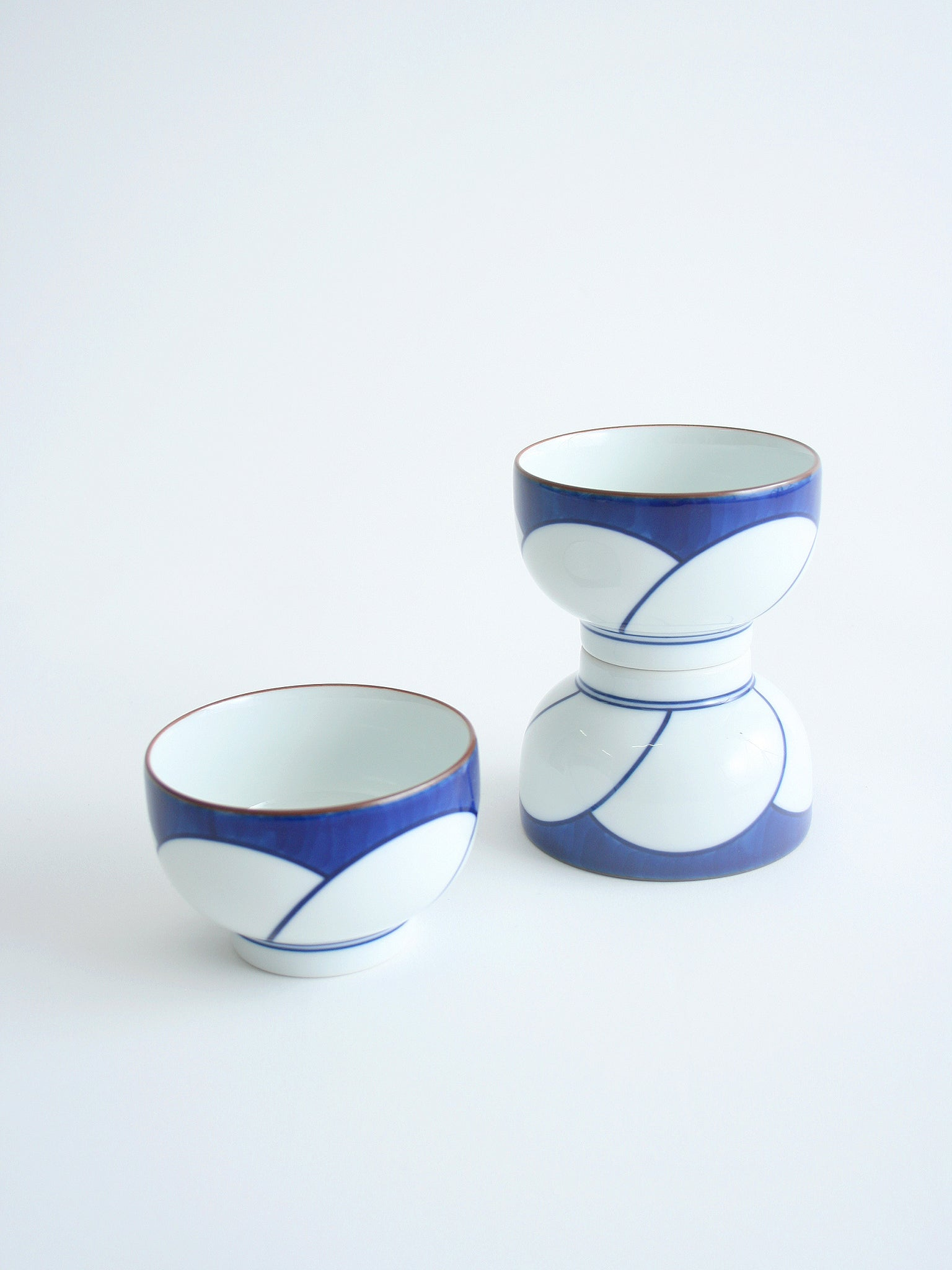 hakusan tea cups porcelain japanese