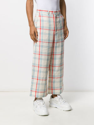 Henrik Vibskov Miami wide-leg trousers light check