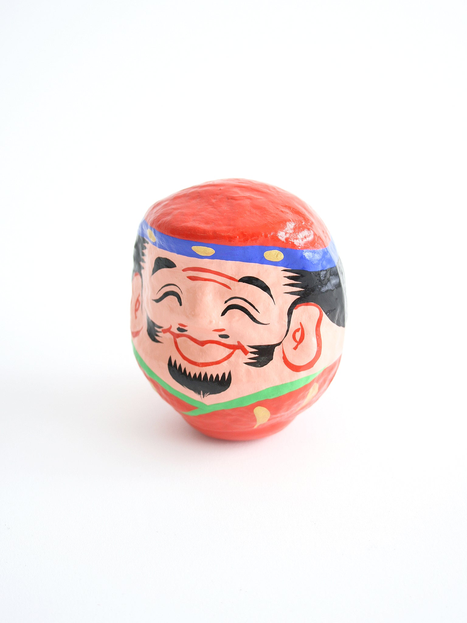 japanese daruma lucky charm doll red
