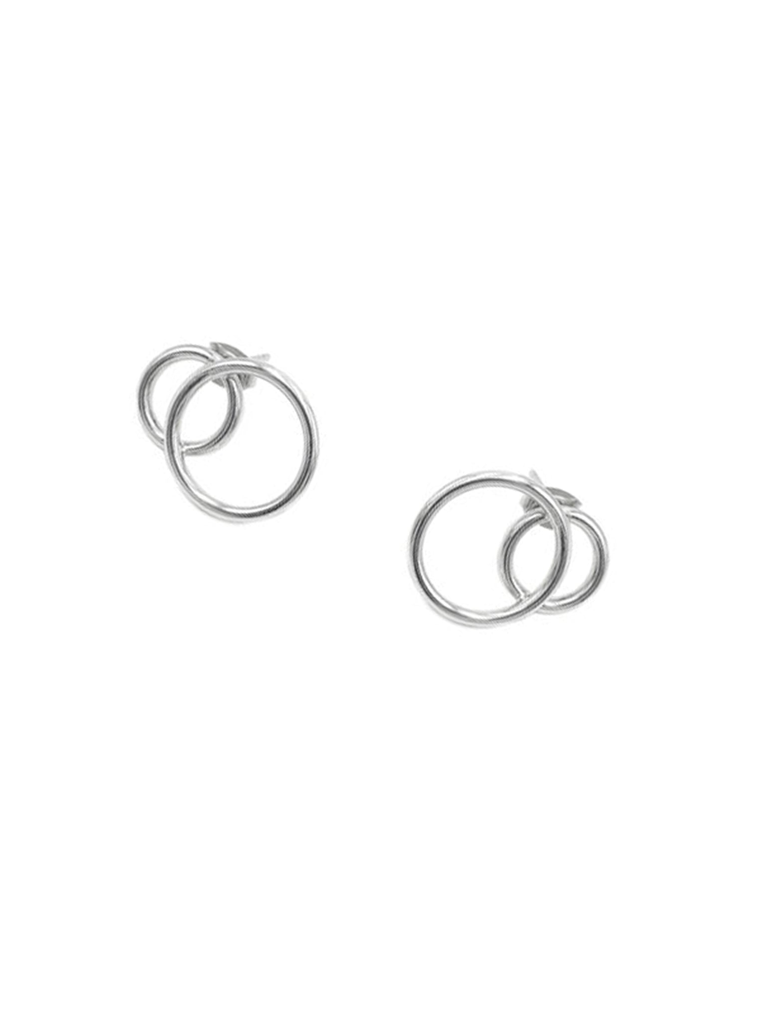 Justine Clenquet Gale earrings palladium