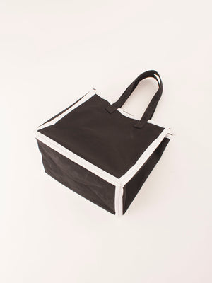 Lorinza canvas tote Black white