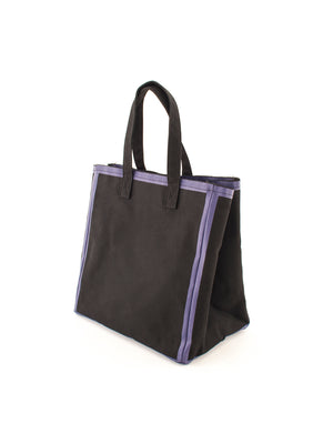 Canvas tote bag, black&purple