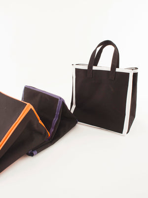 Canvas tote bag, black&white
