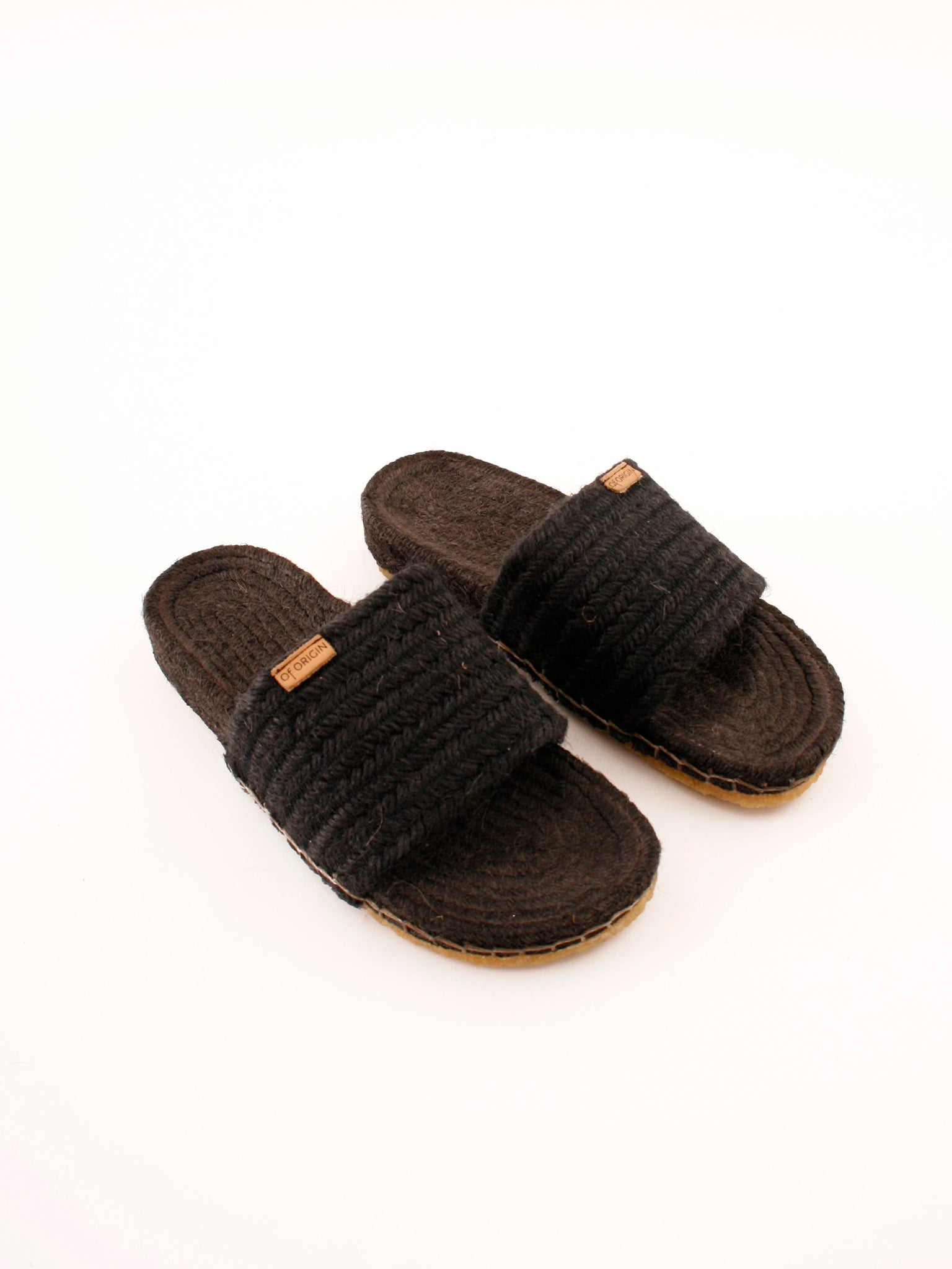 Of Origin Comte slide sandal negro